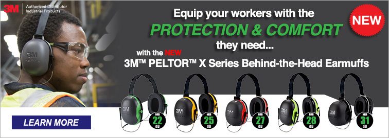 3M E-A-R Earplug & Peltor X-Series Earmuffs