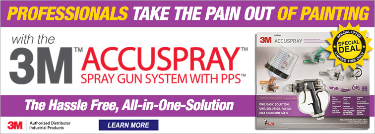 Take the Pain Out of Painting with 3M Accuspray Spray Gun System with PPS