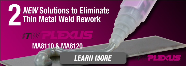 ITW Plexus MA8110 & MA8120 Structural Adhesives