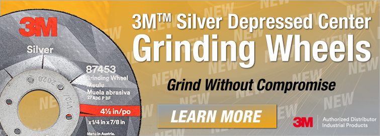3M Silver Depressed Center Grinding Wheel