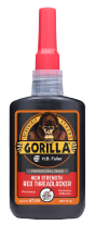 A close up photo of the GorillaPro AT150 High Strength Threadlocker bottle sold by R.S. Hughes.