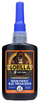 A close up photo of the GorillaPro AT75 medium strength Threadlocker bottle sold by R.S. Hughes.
