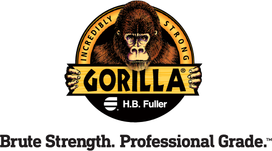 Official logo of the GorillaPro Adhesives line from H.B. Fuller sold by R.S. Hughes.
