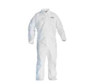 KC A10 COVERALLS LARGE; ZPR FRONT, W/HOOD & BOOT