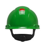 3M™ Hard Hat H-704V-UV, with UVicator, Vented, Green, 4-Point Ratchet Suspension, 20ea/cs