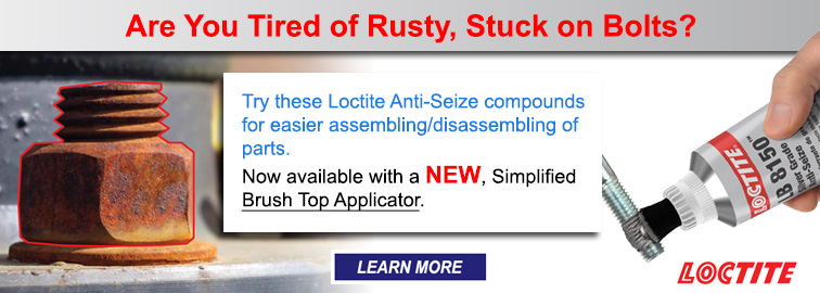 Loctite Anti-Seize Lubricant with a New Brush Top Applicator, Click for Details