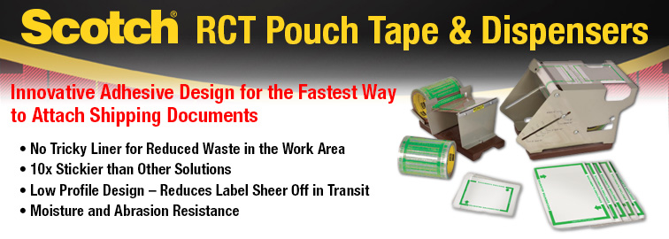 3M Pouch Tape and Dispensers, Click for Details