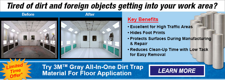 3m Gray All-In-One Gray Dirt Trap Material and Floor Applicator, Click for Details