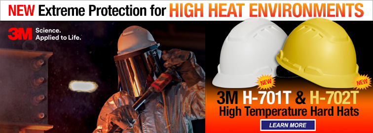 3M H-701T and H-702T Hard Hats, Click for Details