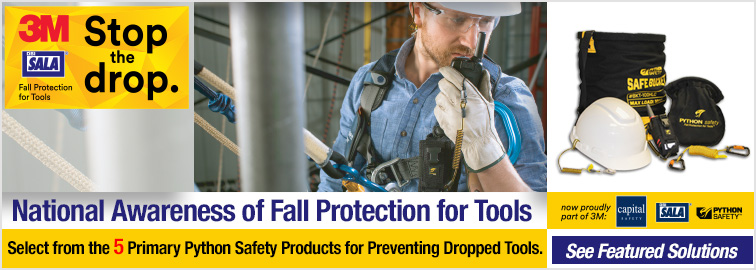 3M Python Safety Fall Protection for Tools, Click for Details