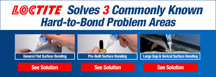 Loctite 401, 406 and 454 Instant Adhesives, Click for Details
