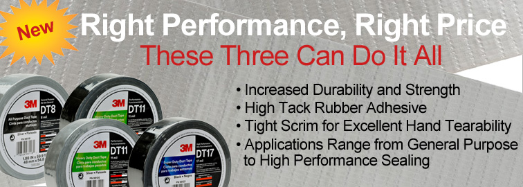 3M DT Series Duct Tapes, Click for Details