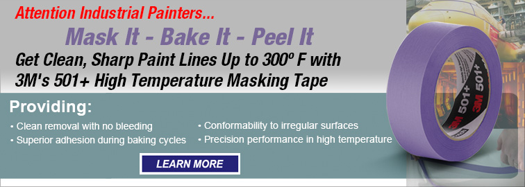 3M 501+ Purple High Temperature Masking Tape, Click for Details