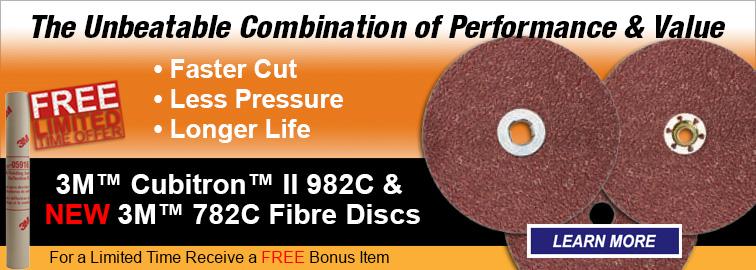 3M Cubitron II 982C & 3M 782C Abrasive Disc Promo, Click for Details