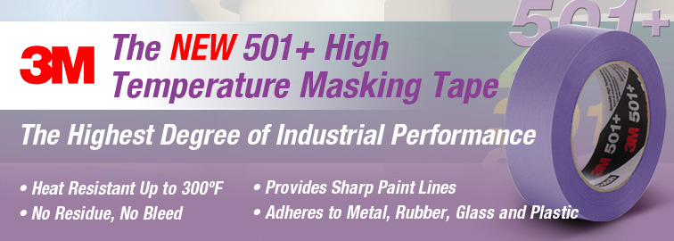 Shop Now for 3M 501+ High Temperature Masking Tape