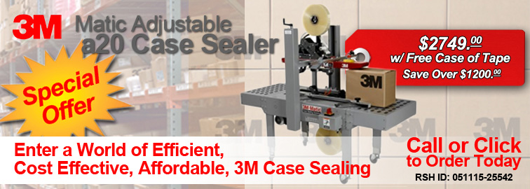 Drag and Drop 3M a20 Matic Case Sealer to Your Cart, or Click for Details