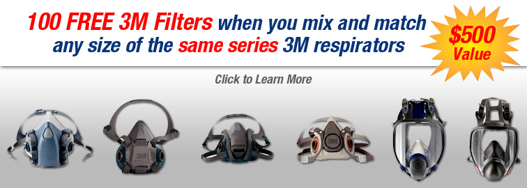 3M Respirator Filter Offer, Click for Details
