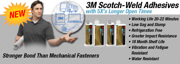 3M Scotch-Weld Adhesives, Click for Details