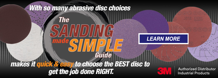 3M Sanding Made Simple Abrasive Disc Guide, Click for Details