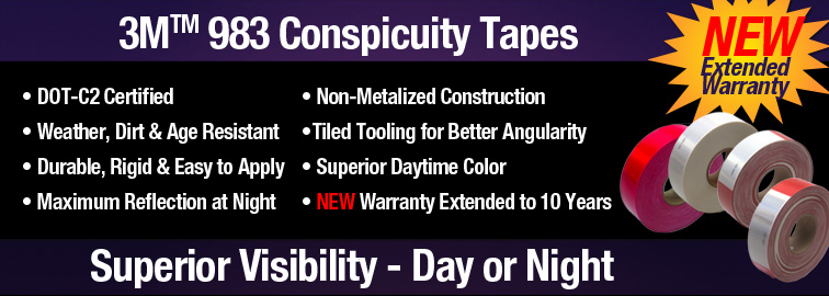 3M 983 Conspicuity Tape, Click for Details