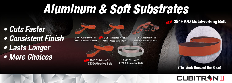 3M NEW Abrasive Belts for Aluminum & Soft Substrates, Click for Details