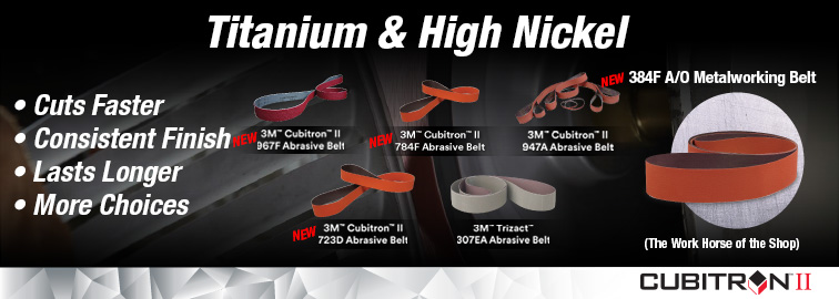 3M New Abrasive Belts for Titanium, Click for Details