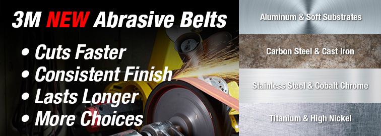 3M New Abrasive Belts, Click to Learn More