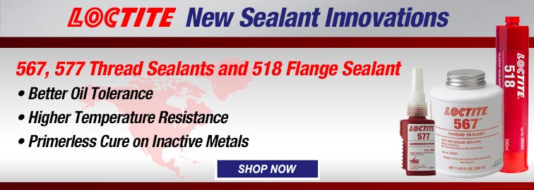 Loctite New Thread Sealant Innovations, Click for Details