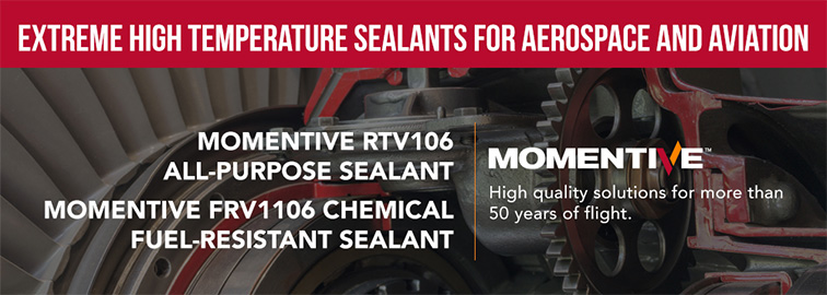 Momentive RTV106 FRV1106 - Extreme High Temperature Sealants for Aerospace & Aviation, Click for Details