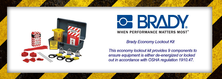 Drag and Drop the Brady Lockout Tag-out Kit to Your Cart