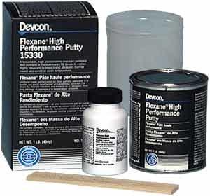 Glues, Epoxies & Cements Adhesives, Sealants & Tapes Devcon Flexane High Performance Putty 15330 1 Lb.