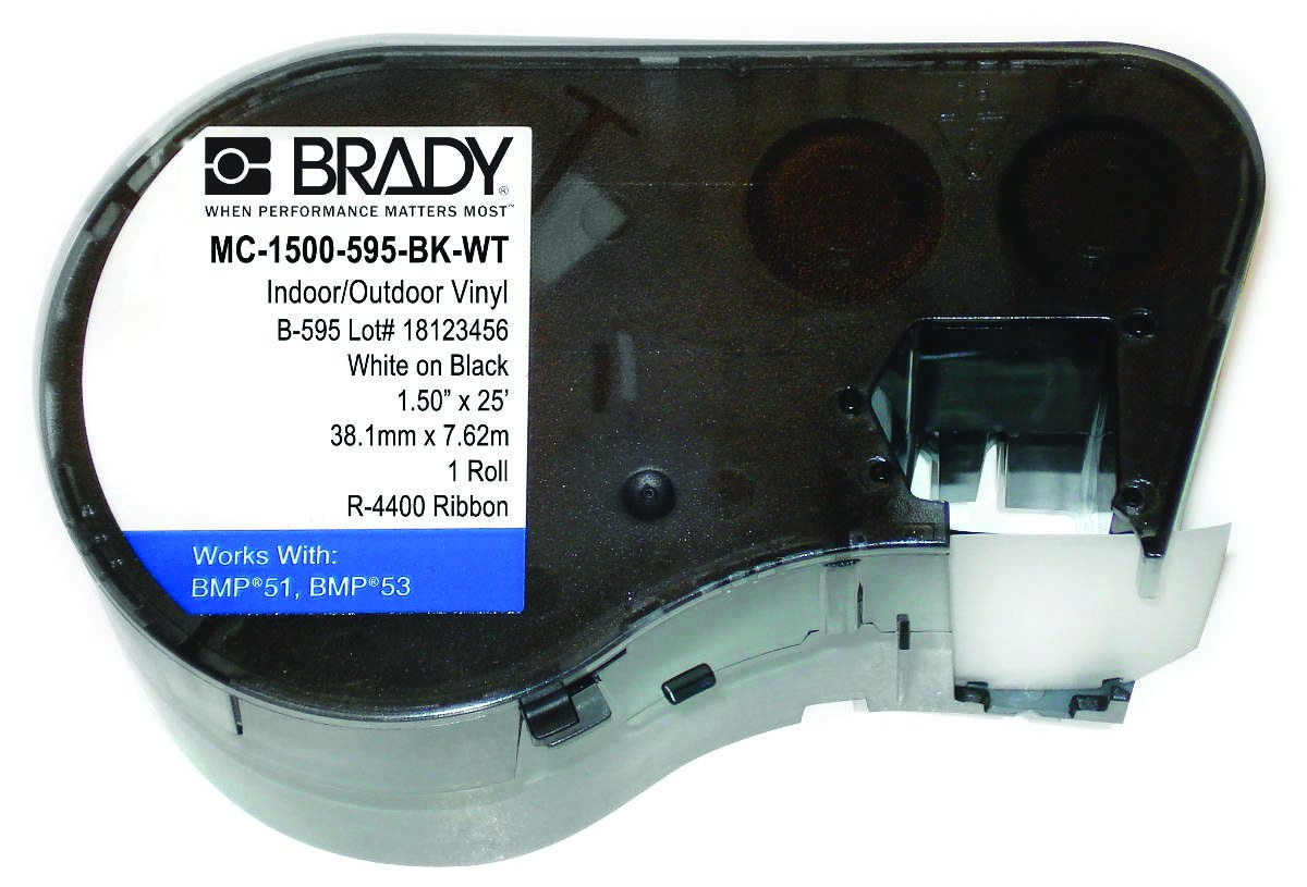 BRADY M71C-2000-595-OR Tape,Orange,2 In L W,50 ft