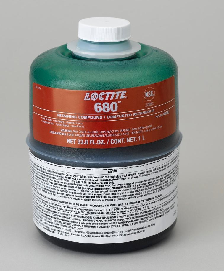 Loctite 680 Retaining Compound 68090 Idh 1835206 1 L Bottle Green Rshughes Com