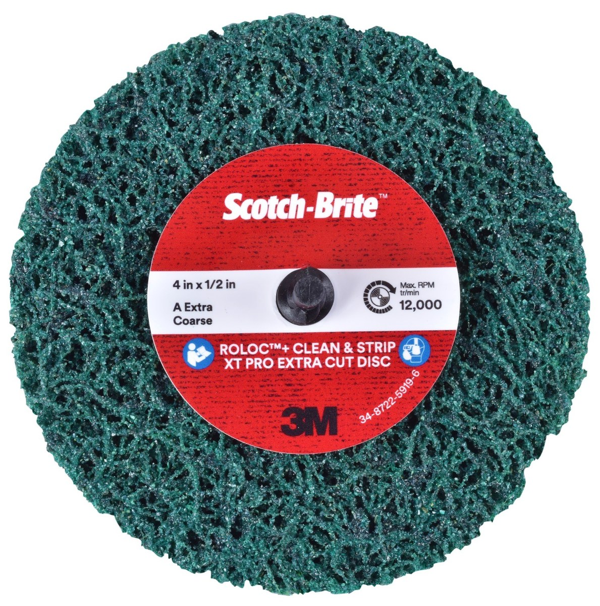 """Medium Scotchbrite Rust Paint Removal Remover Polishing Buffing Mop 6/"""" x 6 Row"""