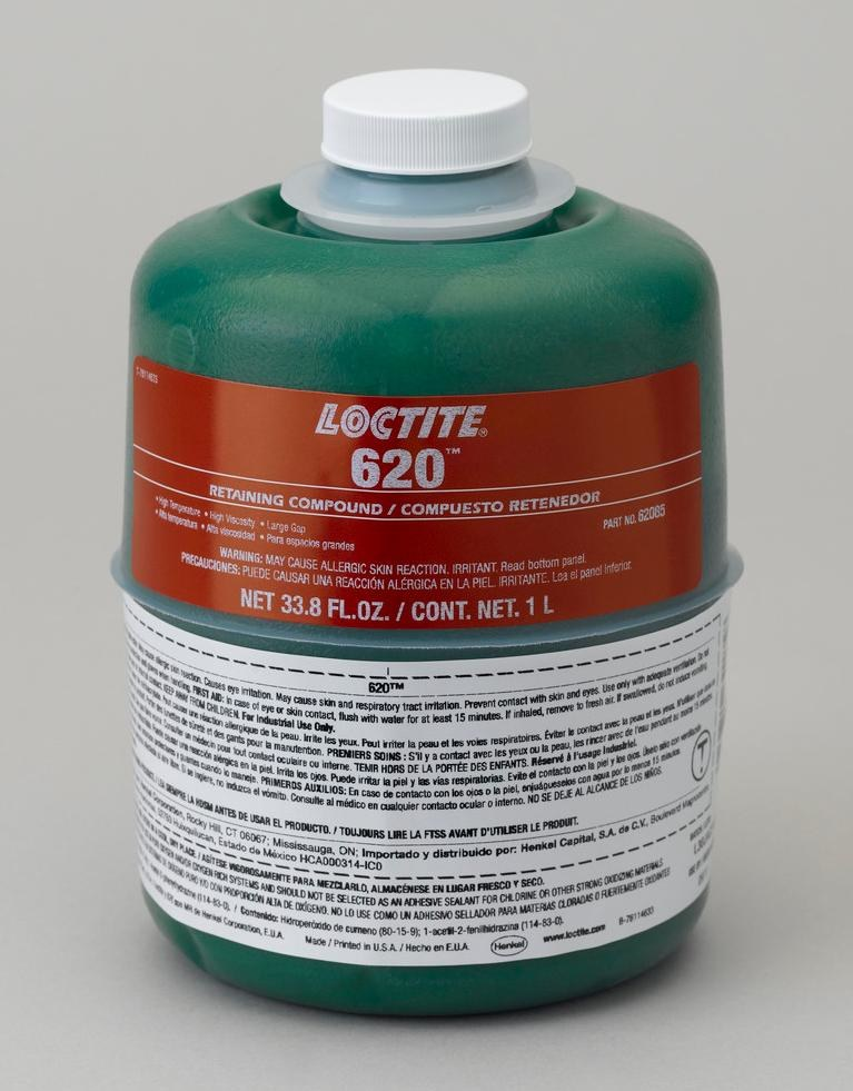 Loctite 620 Retaining Compound 62085 Idh 234787 1 L Bottle Green Rshughes Com