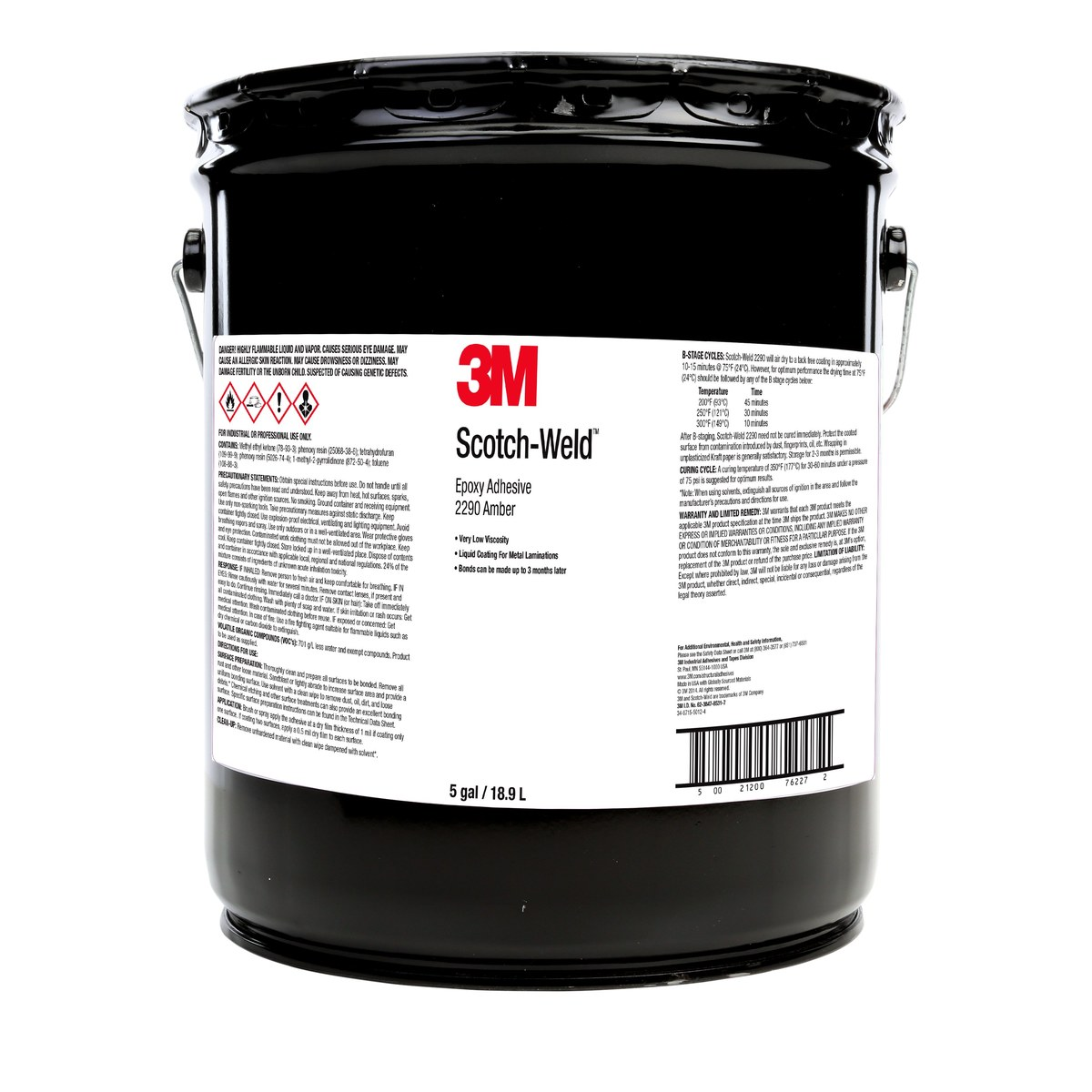 3m Scotch Weld 2290 Epoxy Adhesive 76225 1 Gal Pail Amber Uv Glue For Dvd Digital Camera Laserlenscircuit Board Bonding Buy One Part