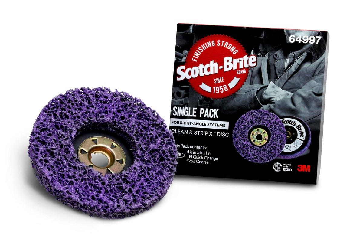 3M Scotch-Brite Quick Change Disc 64997, 4 1/2 in, Silicon