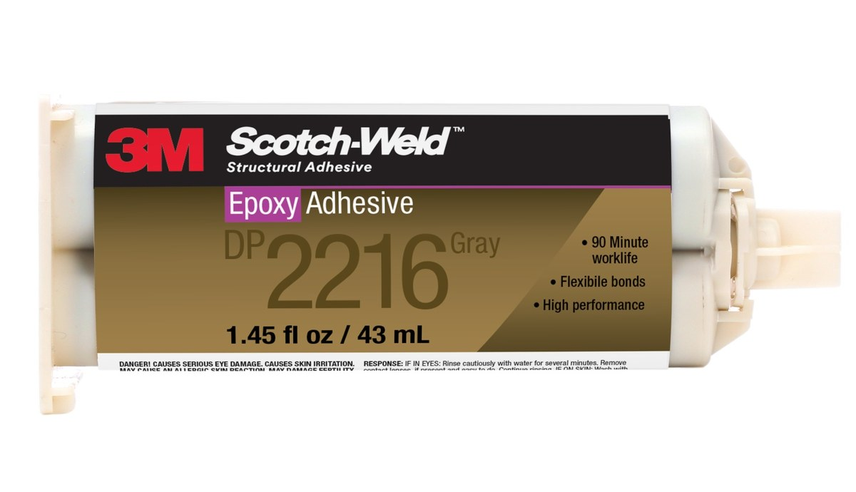 3M Scotch-Weld DP2216 Epoxy Adhesive 56659, 43 ml Cartridge