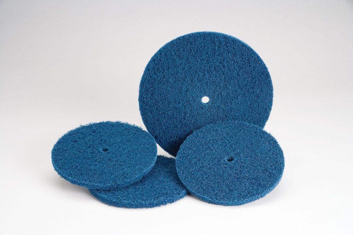 3600 RPM 18 Units 1//2 in Aluminum Oxide 6 in Disc Dia Non-Woven Finishing Disc