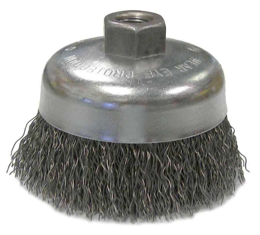 Weiler Vortec Pro Cup Brush 36236, Carbon Steel, 4 in | RSHughes com
