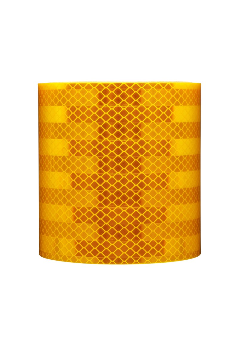 """NEON ORANGE  Reflective  Conspicuity  Tape 3/"""" x 25 feet Thick CUSTOM CUT lines"""