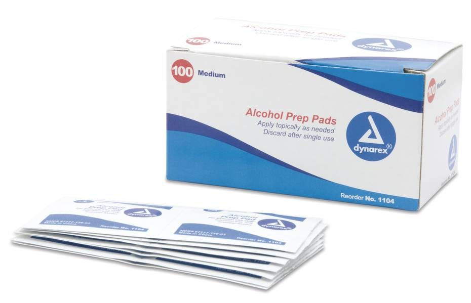North Alcohol Wipe 155818X, 2000 Wipes, 70 % Alcohol