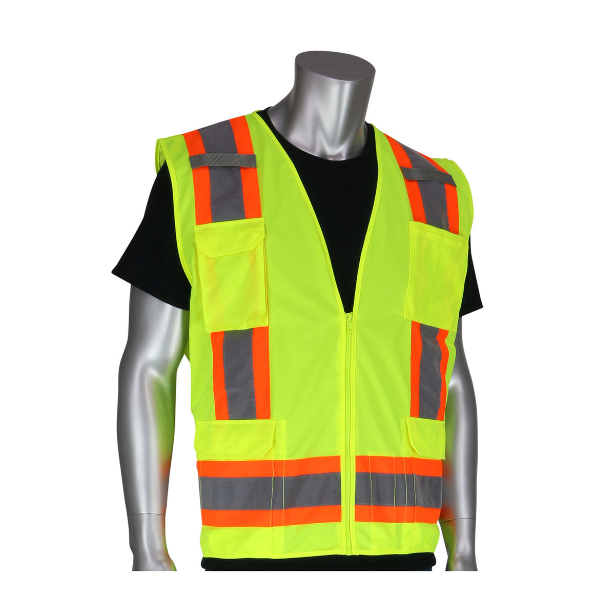 PIP High Visibility Vest 302 0500 YEL2X, ANSI Class 2, Size
