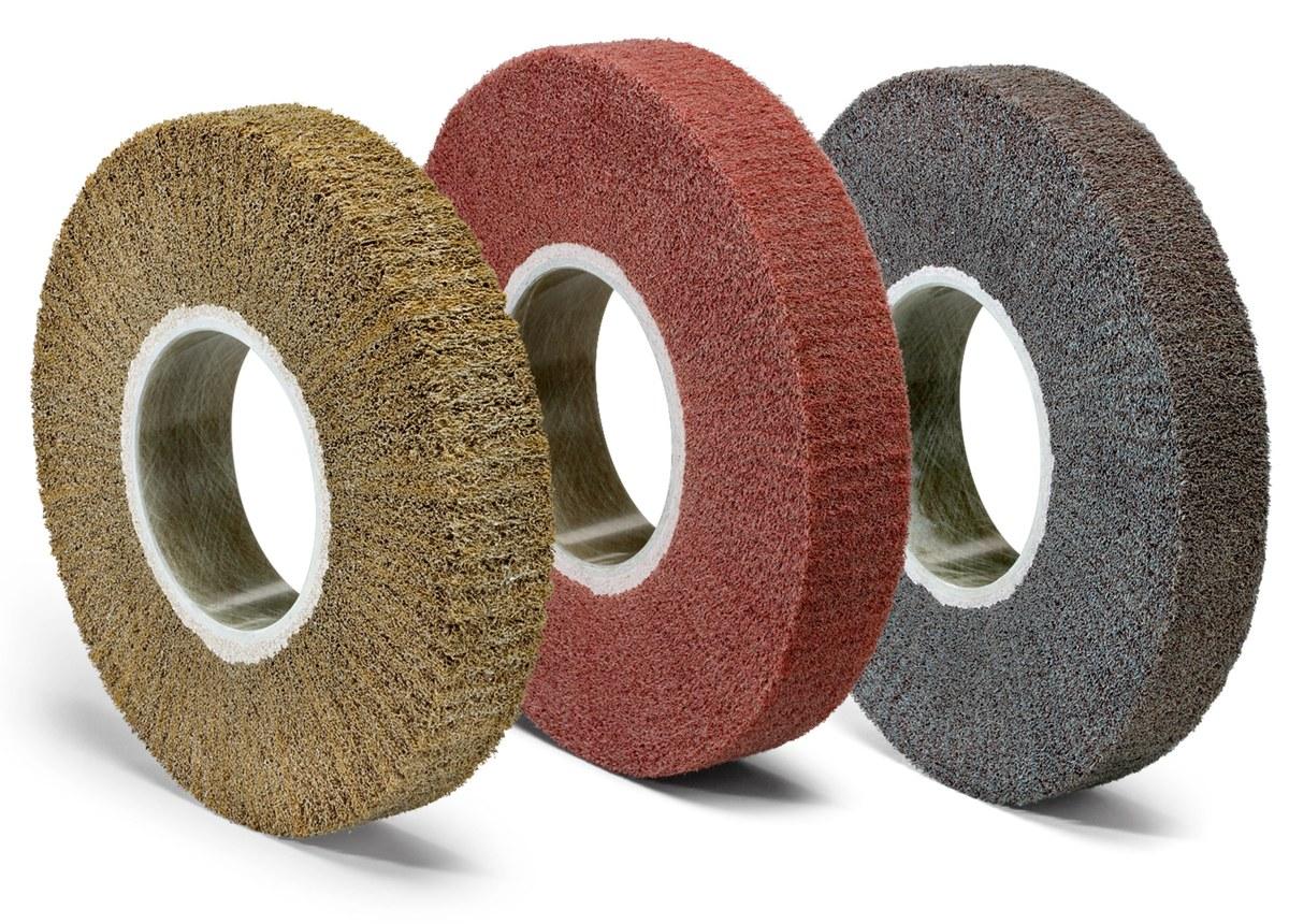 Standard Abrasives A//O Unitized Wheel 881140 811 3 in x 1//2 in x 1//4 in 10 per case 3M