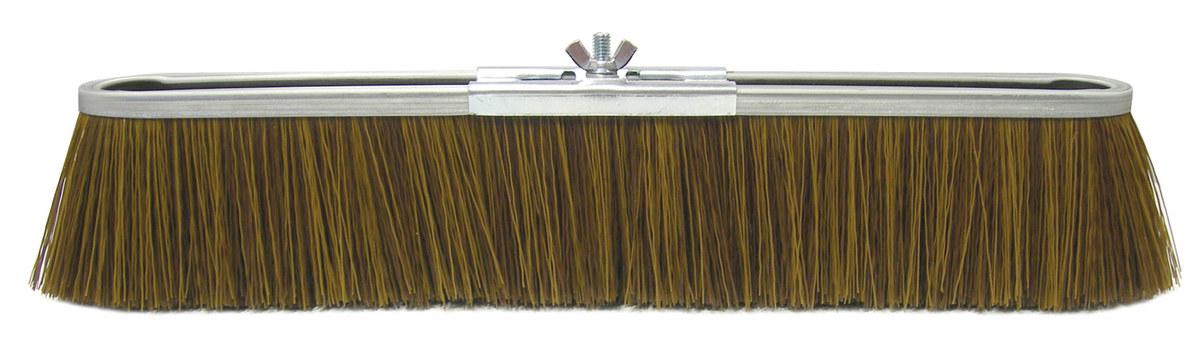 Weiler Vortec Pro 252 Push Broom Head, 18 in, Polypropylene, Brown