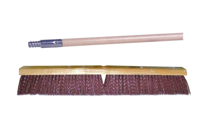 Weiler Vortec Pro 448 Push Broom Kit, 24 in, Polypropylene, Maroon