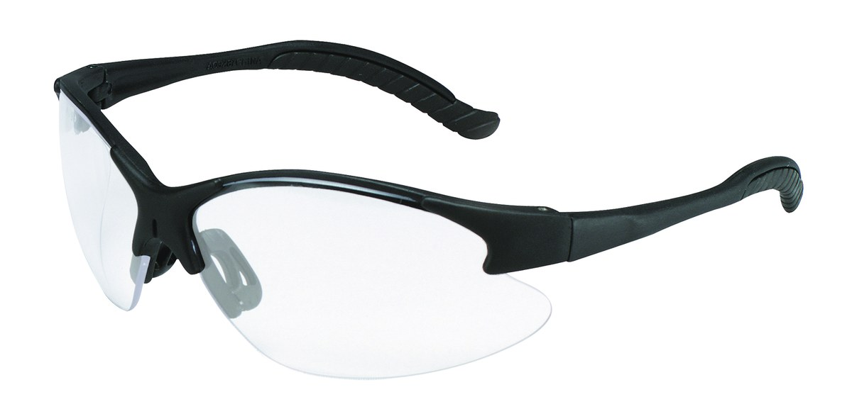 e10c7fc597c 3M Virtua 11682-00000-20 Polycarbonate Standard Safety Glasses Clear Lens -  Black Frame - Half Frame - 078371-62144