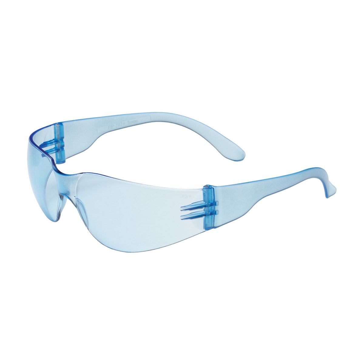 6be444b0dd Bouton Optical Zenon Z12 Universal Polycarbonate Standard Safety Glasses  Blue Lens - Dark Brown Frame - Wrap Around Frame - 616314-19999