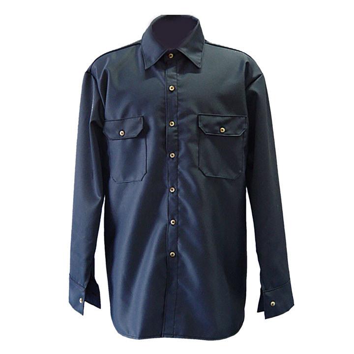 f74e8ec9d63b Chicago Protective Apparel Small 8.5 oz Flame-Resistant Shirt - 625-FR9B-N  SM