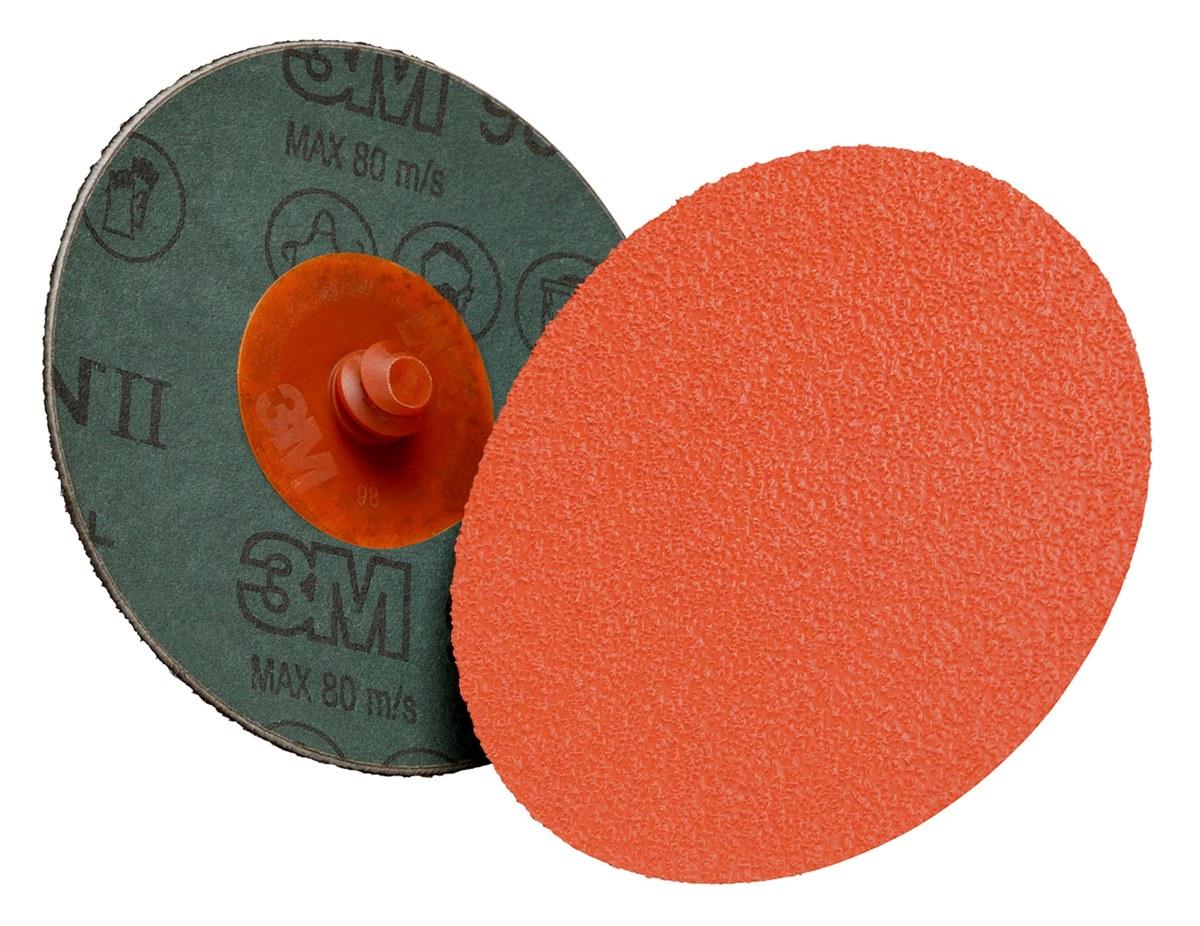 Lot of 100 3M Cubitron II Fibre Disc 987C 5 Diameter Ceramic Grain 60+ Grit TN Quick Change